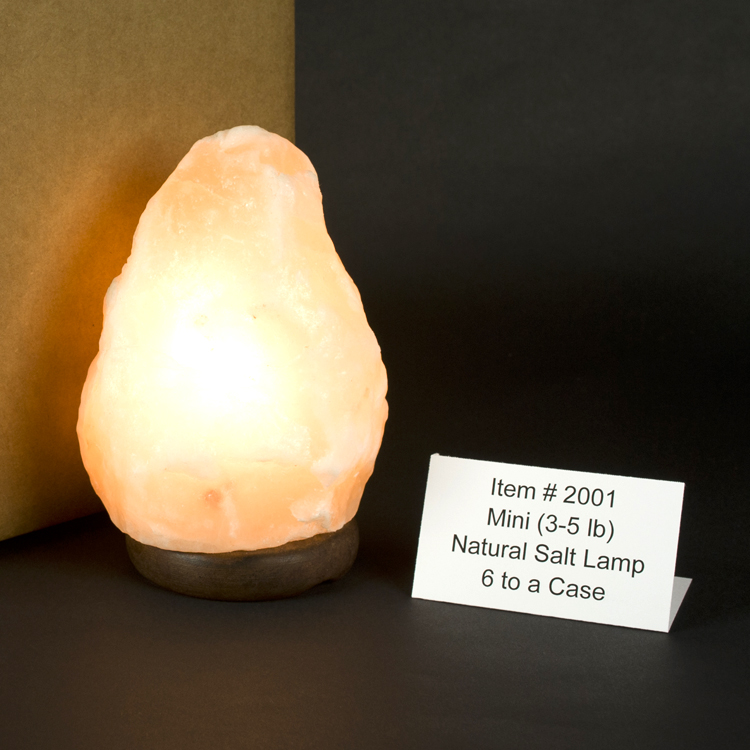 Natural Cut Himalayan Salt Lamps : Himalayan Salt Mini 3 - 5 lb. Lamp/Full Case/6