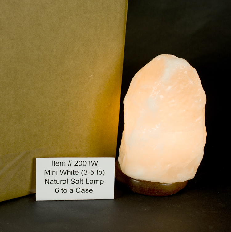 Himalayan Salt Lamps White : Natural Cut Himalayan Salt Lamps : White Himalayan Salt Mini 3-5 Lb. Lamp/Full Case/6