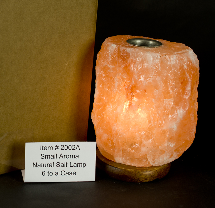Small Himalayan Salt Lamps : Natural Cut Himalayan Salt Lamps : Himalayan Salt Small 6 - 8 lb. Aromatherapy Lamp/Full Case/6