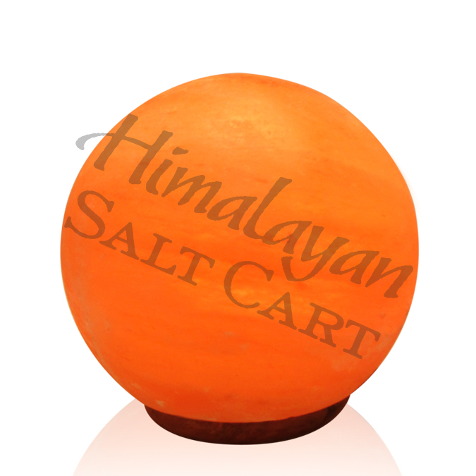 Himalayan Salt Lamps Georgia : Crafted Himalayan Salt Lamps : Himalayan Salt Medium Globe Salt Lamp