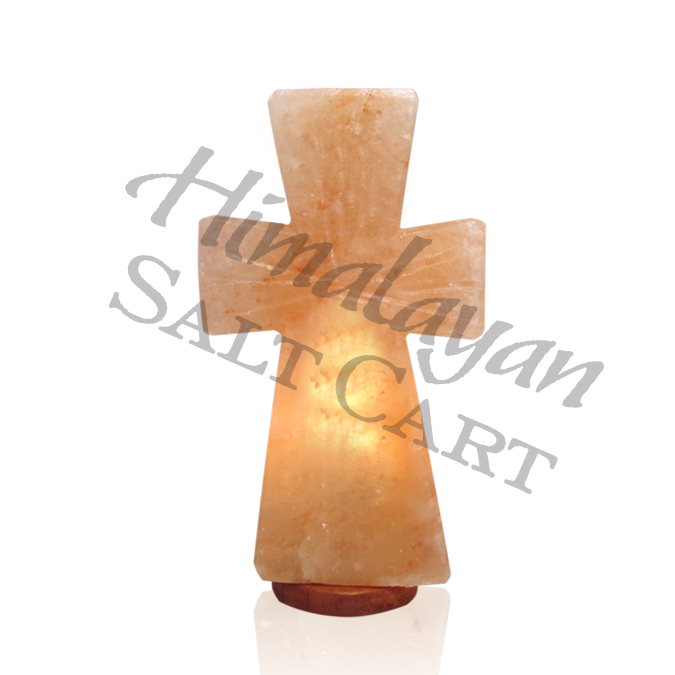 Himalayan Salt Standing Cross Lamp - Medium