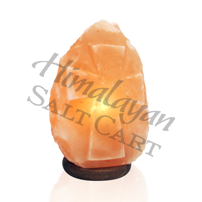 Small Himalayan Salt Lamps : Crafted Himalayan Salt Lamps : Himalayan Salt Carved Cross Lamp - Small