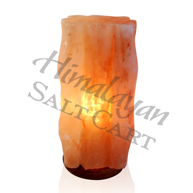 Crafted Himalayan Salt Lamps : Himalayan Salt Square Bamboo Lamp