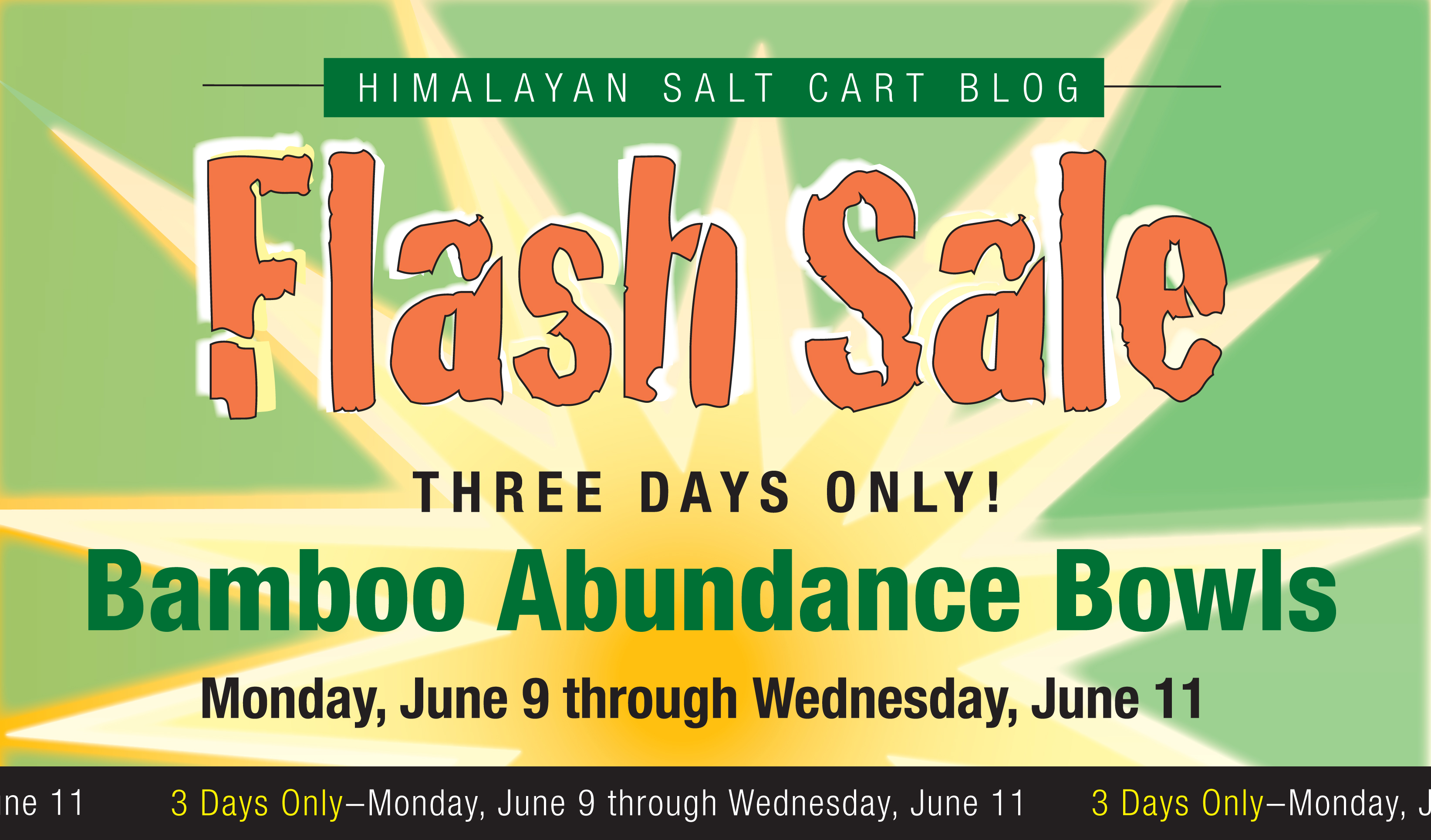 Himalayan Salt Cart Flash Sale